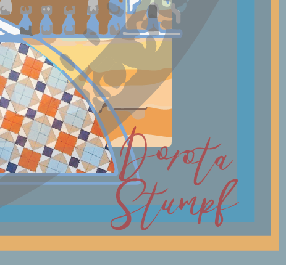 Silk pocket square orange and blue engineering maverick