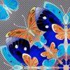 Butterfly Kaleidoscope Cobalt macro