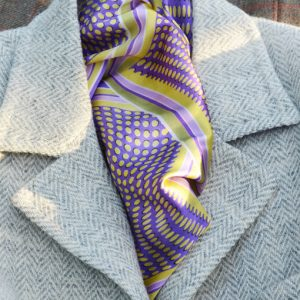 Illusion fondant neckerchief styled grey jacket