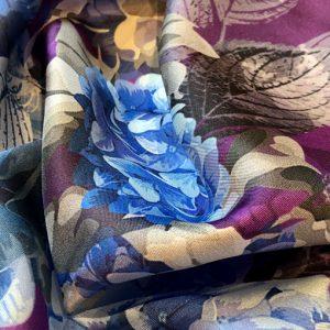 Hydrangea ultra violet in folds