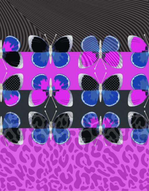 Fuschia Flighty ultra violet flat