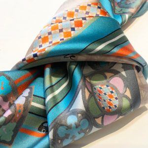 Gothic verdigris neckerchief tied
