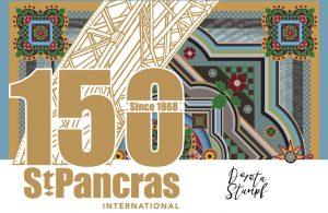 St Pancras 150 logo with Dorota Stumpf